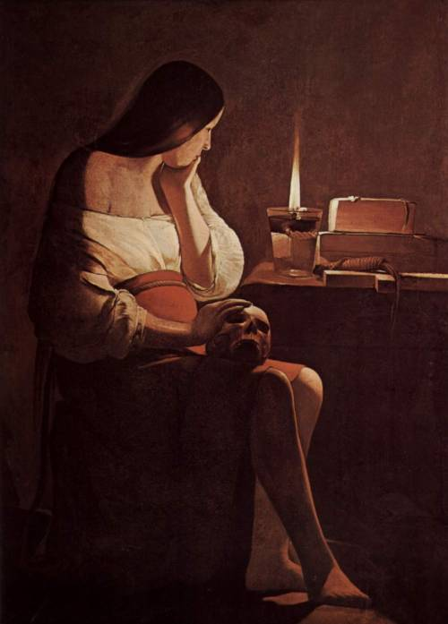 Georges de La Tour - Mary Magdalene, (1640-1645).