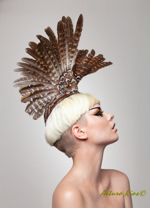 The headpieces by Arturo Rios are phenomenal in a way I can't put words to. Each one is a unique piece of art.