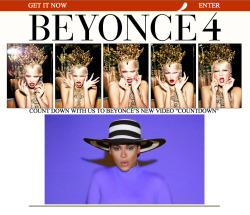 Beyonce's new video for Countdown is now live! So much fierceness! Check it out at www.beyonceonline.com