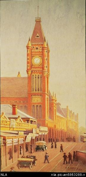 Perth Town Hall 1914 Thomas Shackleton Henry