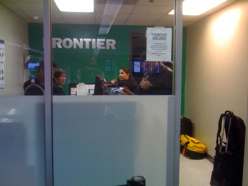 Not a banner day for Frontier Airlines: 4+ hour delay in DCA, 2 hours sitting in Kansas City, and they still couldn't get our luggage to arrive in SFO.  ARRRRGGGGHHH!!!!!!!