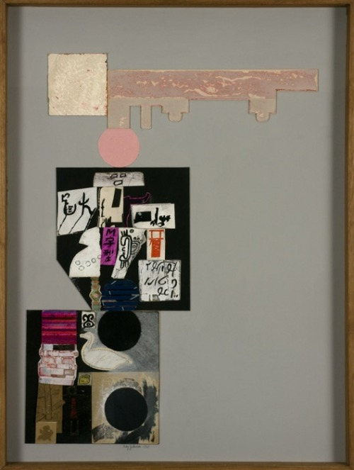 Ray Johnson  Pink Above Pink, 1965 Collage on cardboard panel 62 x 47 cm