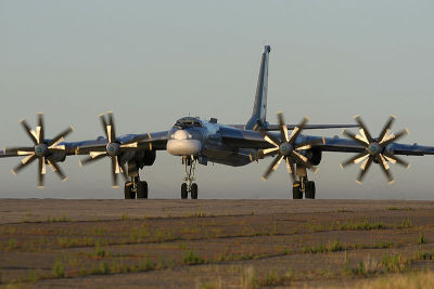 acidadebranca:  Planes [56] The Tupolev Tu-95 (Russian: Туполев Ту–95 NATO reporting name:Bear) is a large, four-engine turboprop-powered strategic bomber and missile platform. First flown in 1952, the Tu-95 entered service with the former Soviet Union in 1956 and is expected to serve the Russian Air Forceuntil at least 2040.[1] A naval development of the bomber is designated Tu-142.    via   …this is the world's fastest propeller driven aircraft, flying in un-modified form (without special engines, aerodynamics, etc). And she's been in service for almost 60 years.