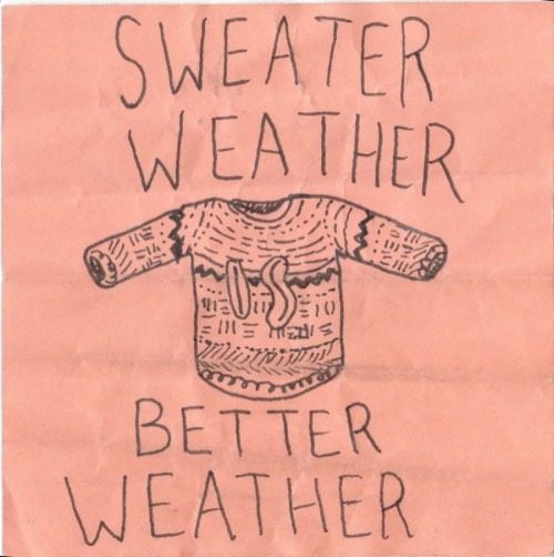 it was sweater weather but now it is 80 and i dont know if i am sad or not at least i can feel the sun. ya know?
