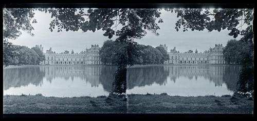 View across the lake, Fontainebleau, France, 1920s