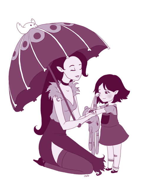 kailanigallery:  lalala I was trying to imagine Marceline's mom