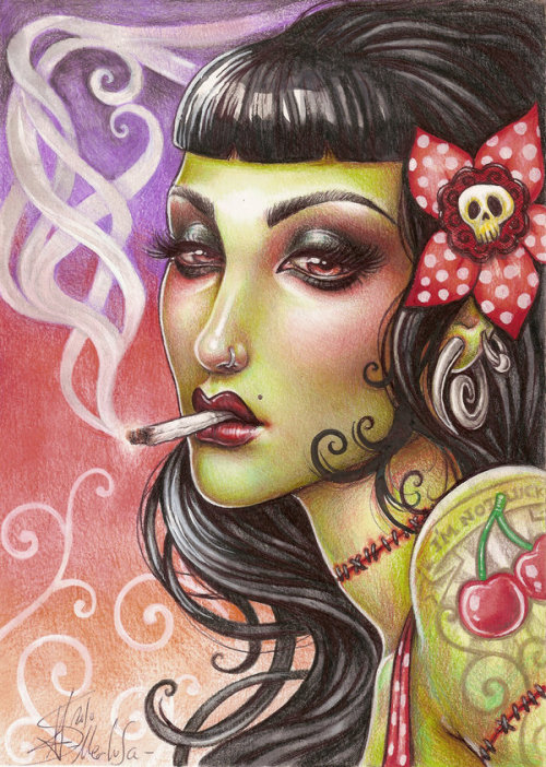 erosart:  Zombies can Smoke by *Medusa-Thedollmaker