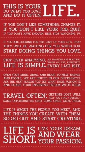 iamblessed:  The Holstee Manifesto… Download a print for free here.