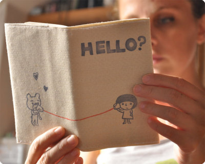 """Hello?"" Fabric Moleskin Cover by MemiTheRainbow"