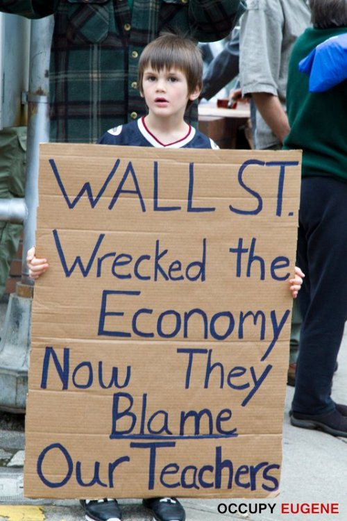 Wall St Wrecked the Economy Now they Blame Our Teachers