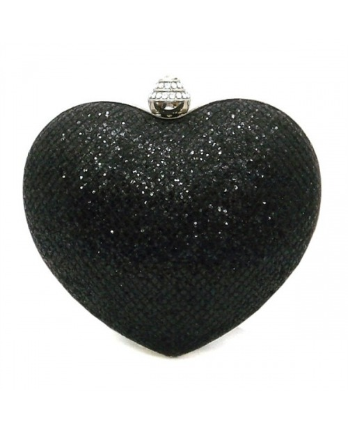 Be the sparkle of my heart with this gorgeous black heart shaped clutch! Perfect to bring along with your favorite little black dress and strappy heels! Visit aristocracie.com for more brilliant accessories and romantic dresses!