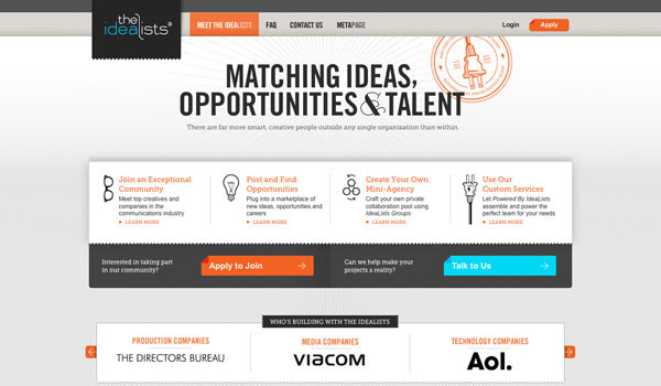 Invite-only creative hotshop - http://theidealists.com/