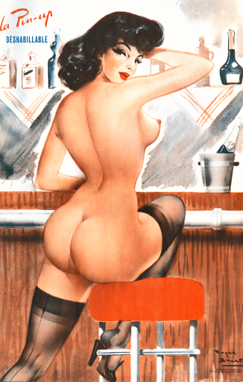 hollyhocksandtulips:  French pin-up illustration