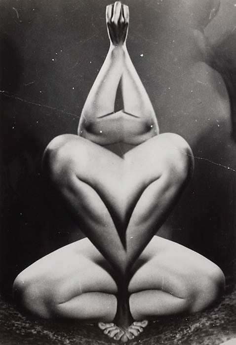 "billyjane:  Strange Nude [Distorted Nude Series] c.1955 by Arthur ""Weegee"" Fellig [more] from Lone Star"
