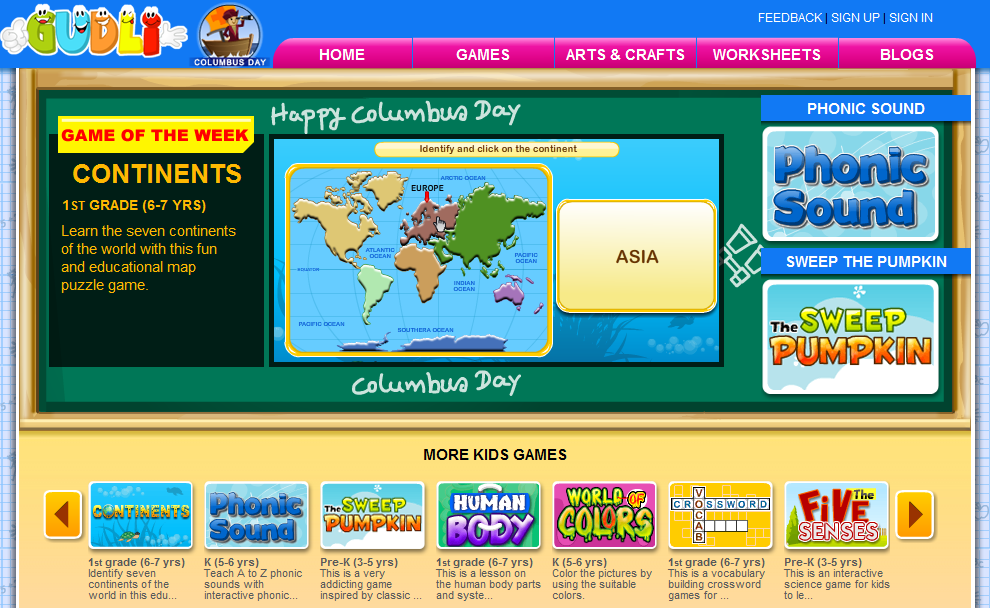 75+ Educational Games GUDLI is a fantastic website for primary students offering 75+ educational games. #elemchat #spedchat #kinderchat #1stchat #games #Gudli GUDLI's games are excellent for teaching and reinforcing skills. They are bright, colorful and include sound. Advertisements do not appear on the site. Game categories include… Math Language Arts Science Puzzle Fun