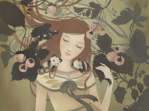 for-redheads:  Amy Sol, Brambles (2011) Acrylic on wood