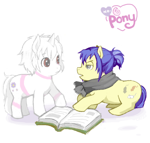 pipipierrot:  harlequinades:  By クッキー  LOOOOLLLLLLLLLLL   DASDFASDF PONY!SION IS SO CUTE