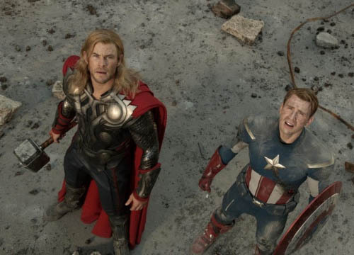 totalfilm:  Full Avengers trailer hits the net next week Marvel's team assembles in video promo We've lived through a whole summer of on-set photography and been teased to the max with footage at the end of Captain America to get us in the mood for Marvel's Avengers.  Plus - score! - those of us lucky enough to be in the audience at Disney's D23 watched a full scene. Now, finally, the whole world gets an official trailer!  Well, we say finally. It'll actually show up next week according to information posted on Marvel's website. [FOR THE FULL STORY, CLICK ON CAPPY AND THOR OR FOLLOW THIS LINK]