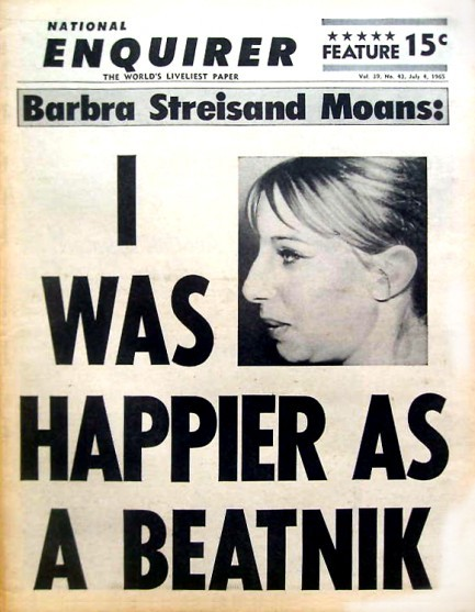 theswingingsixties:  Barbara Streisand moans… National Enquirer, July 1965.