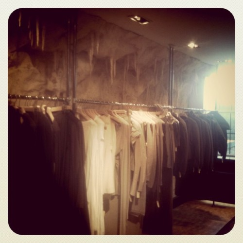 bergdorfgoodman:  Rick Owens @ 9:15 am (Taken with instagram) - James A