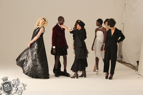 metrovelvet-outtakes:  Behind the scenes at Fashion Forward 2011 commercial for GMHC Get your tickets here: http://bit.ly/ndTz4E