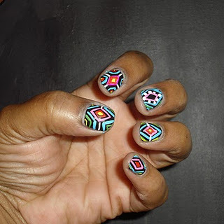 tribal cute manicure nail art design polish
