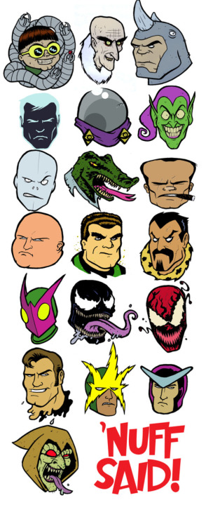 all-about-villains:  Spidey Foes : By Eyemelt / Blog  .