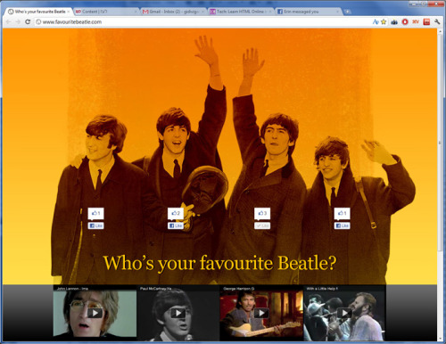 coveringthebeatles:  Who's your favourite Beatle?