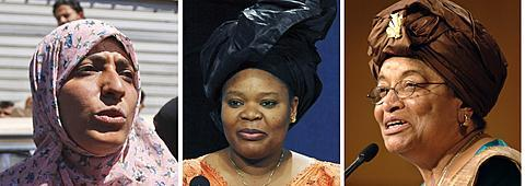 "Nobel Peace Prize Goes to Trio of Liberian, Yemeni Women   The 2011 Nobel Peace Prize has been awarded to Liberian President Ellen Johnson Sirleaf, Liberian peace activist Leymah Gbowee and Yemeni women's rights advocate Tawakkul Karman.The Norwegian Nobel Committee made the announcement Friday in Oslo, saying the three women will split the coveted award for ""their nonviolent struggle for the safety of women and for women's rights.""Committee Chairman Thorbjoern Jagland praised the work of the three recipients, saying that ""we cannot achieve lasting peace in the world unless women obtain the same opportunities as men.""Ellen Johnson Sirleaf, 72, became Africa's first democratically elected female president in 2005. The Nobel Committee praised the Liberian leader for her efforts to secure peace, promote economic and social development and strengthen the position of women. In an exclusive VOA interview with James Butty, Sirleaf said she is humbled by the award.  She said it is an award for all the Liberian people, given what they've gone through - 13 years of civil war, the peace process, and democratic elections.The Liberian leader, in a close re-election campaign leading up to Tuesday's voting, said the Nobel is recognition of ""many years of struggle for justice, peace and promotion of development"" in her country.  She said ""credit goes to the Liberian people.""Thirty-nine year-old Leymah Gbowee, also from Liberia, helped to end her country's civil war by encouraging Christian and Muslim women to participate in a series of sit-ins and non-violent demonstrations. In 2002, Gbowee mobilized Liberian women to participate in a ""sex strike"" until the violence ended. She said the award is ""a Nobel for African women,"" adding that there is ""no way that anyone can minimize our role anymore."" Meanwhile, 32-year-old activist and journalist Tawakkul Karman was praised for playing a ""leading part in the struggle for women's rights and for democracy and peace"" in Yemen. A leading ""Arab Spring"" activist in her country, Karman told reporters after winning the prize that she dedicated it to the ""youth of the revolution in Yemen,"" saying it was a victory in her country's uprising against President Ali Abdullah Saleh. The committee said it hopes the prize will help bring an end to the ""suppression of women that still occurs in many countries.""The three women will share an award of nearly $1.5 million, which they will receive at a ceremony in Oslo on December 10.Last year, the Nobel committee awarded the peace prize to imprisoned Chinese dissident writer and activist Liu Xiaobo, angering the Chinese government. Liu is serving an 11-year prison sentence for what China says is ""subverting state power.""Past winners include U.S. President Barack Obama in 2009, former Vice President Al Gore in 2007 and former President Jimmy Carter in 2002.  The 2001 prize was split between the United Nations and then Secretary-General Kofi Annan.The prize was created by Swedish scientist and industrialist Alfred Nobel, the inventor of dynamite."