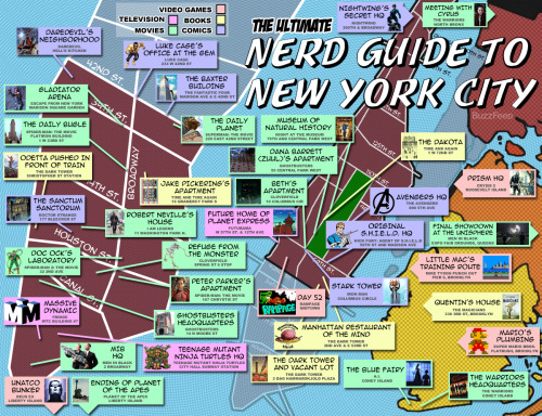 popculturebrain:  The Ultimate Nerd Guide To New York City | Buzzfeed  Taking note for my upcoming trip to NYC.