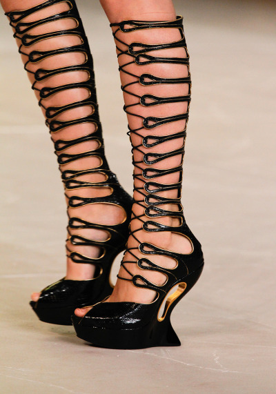 Alexander McQueen Spring RTW 2012 Paris Fashion Week  OMG. WANT these shoes.