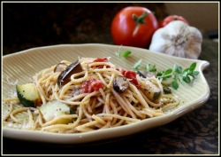 boyfriendreplacement:  Roasted Vegetables with Pasta Recipe
