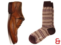 parkandbond:  10/7/2011 - Sock Season The stylish men of the world are just now reaching back into their sock drawer, but not just for any ol' pair of tubes.  No, the right socks can really bring the goods.  You can go colorful or luxurious or seasonal, the choice is totally up to you.  Now, if the choice was up to us, we'd go with all three.  Pantherella's merino wool fair isle socks are some of the best we've ever seen and would look smashingly smashing with your favorite pair of wingtips.  Don't have those yet, either?  No worries, meet our friend Dylan over at Grenson.