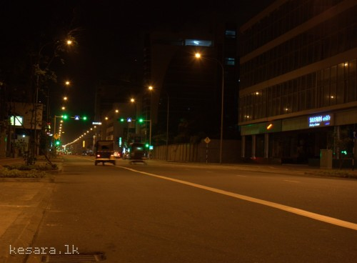 kesara:  Galle Road at Night Photograph by Kesara. Location: Galle Road, Colombo.