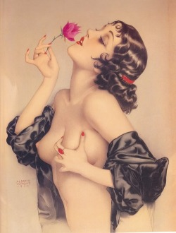 salvadorcastio:  I love art from the 20s and 30s; this image by Alberto Vargas is one of my favorites from that time period. There's a soulfulness to visual art and music from that period that is missing from the music and art of today.