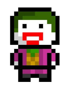 pixelblock:  The Joker, one of many villains residing in Gotham city. With a face like that, how does evade custody??