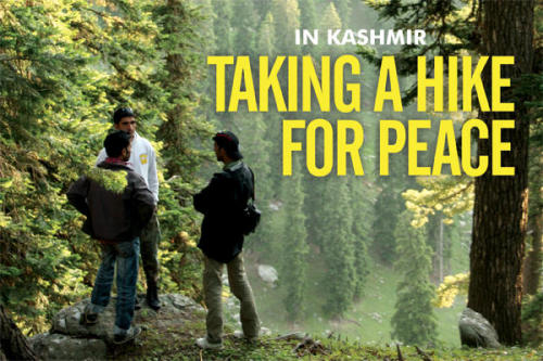 Kashmir – torn by nuclear rivals India and Pakistan – hopes new trekking business will divert timber smugglers and help revive the economy.
