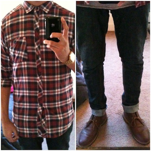 Top - COMUNE Bottom - Ezekiel denim Wrist - Nixon Mayor Feet - Clarks desert boot
