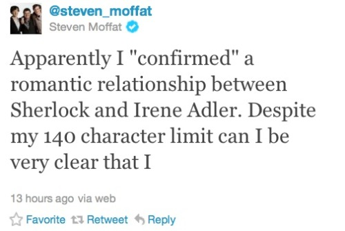 confessionsofasherlockian:  Let's take a moment to acknowledge that MOFFAT IS THE BIGGEST FUCKING TROLL EVER.