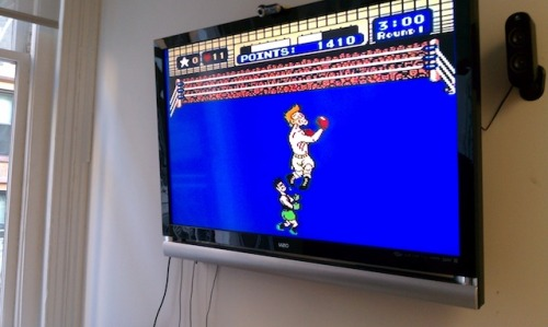 What original Punch-Out looks like on a 42-inch flat screen. At BuzzFeed, we never stop doing research.