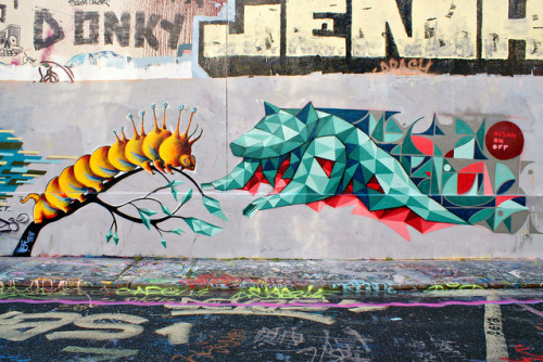 Olson by dprezat on Flickr.Love this geometric graff piece.