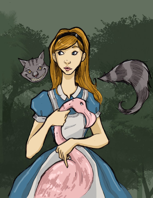 Another older piece done during an Alice and Wonderland phase.