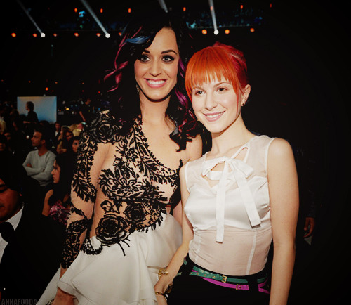 Hayley Williams and Katy Perry.