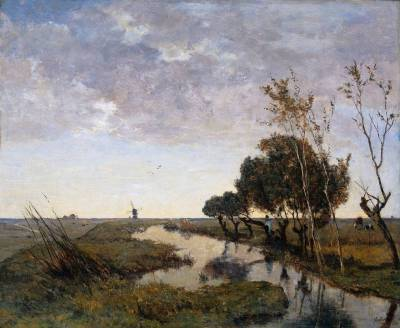 Paul Gabriel - 1878 - A Watercourse at Abcoude.