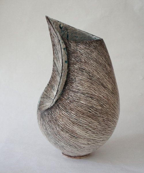 "Tanoue Shinya: KARA-10 : Fu-1, 2010, Glazed clay, 7"" x 7"" x 12 1/2"" / Keiko Gallery - Japanese artists"