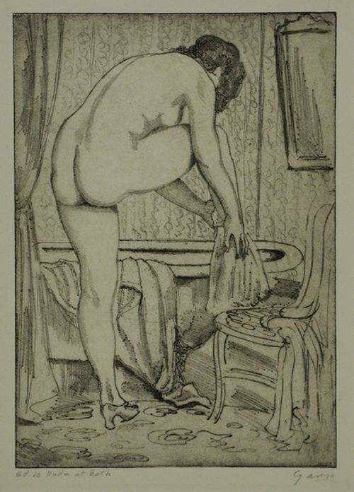 Emil Ganso - After the Bath (or Nude Drying), 1930