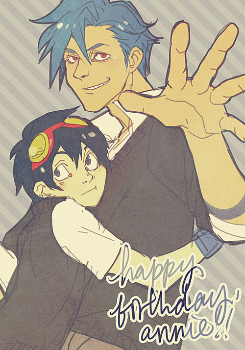 averyniceprince:  happy birthday miss annie!   LAGANN