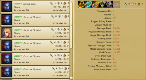 And the nidalee said we were going to lose because I was playing eve. Also, while in the game I kept killing Gangplank and he called eve a noob champion. I lol'd.