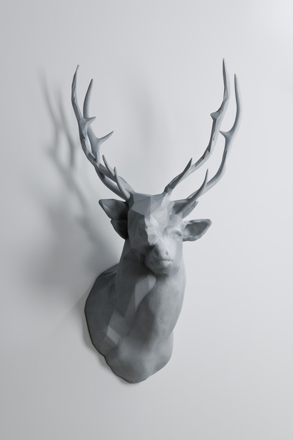 """This is an intriguing new sculptural piece by artist Kohei Nawa entitled Polygon Double Deer #2. Photograph by Omote Nobutada courtesy Sandwich."""