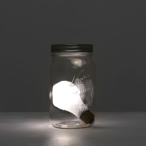 Matt Johnson, Star in a Jar, 2011, Glass, electronics, 6 1/2 x 3 1/2 x 3 1/2 inches, Pedestal: 40 1/2 x 21 x 21 inches (via)  Exhibition at Blum & Poe, September 10 - October 22, 2011